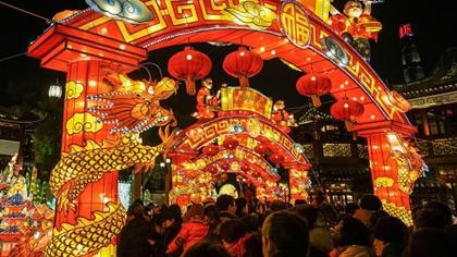 上海:賞燈會 品美食 豫園年味兒濃