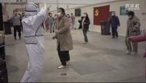 武漢方艙醫院裏的廣場舞