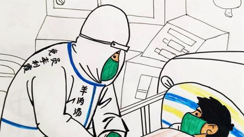 四川護士手繪漫畫講述援助湖北的難忘點滴