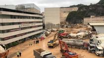 貴陽城區一混凝土公司發生滑坡