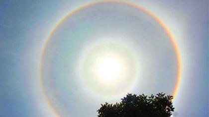 甘肅平涼:涇川出現日暈奇觀