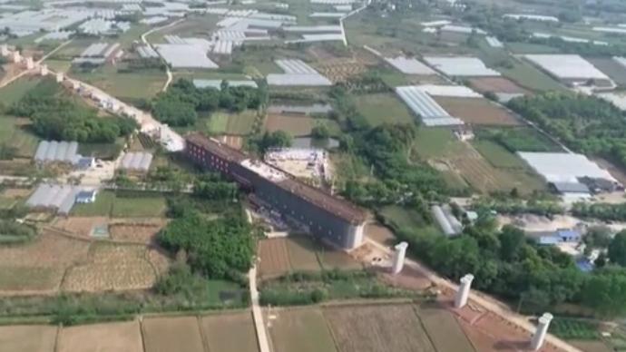 江蘇:南沿江城際鐵路全線首座連續梁順利合龍
