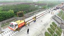 山東:濰萊高鐵正線鋪軌完成 預計年底通車