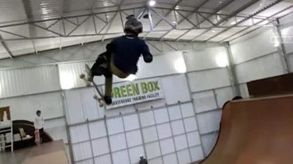 巴西11歲滑板少年空中轉體1080度破世界紀錄