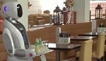 荷蘭:餐廳重新開業 機器人來當傳菜員