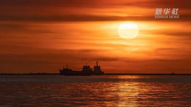 海南:夏至落日 絢爛如畫