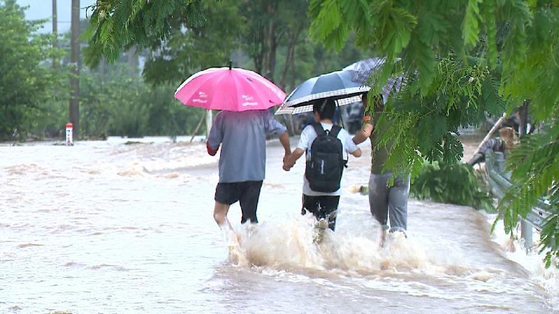 浙江蘭溪發布暴雨橙色預警 部分溪流水位暴漲