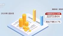 上半年中國服務進出口總額同比下降14.7%