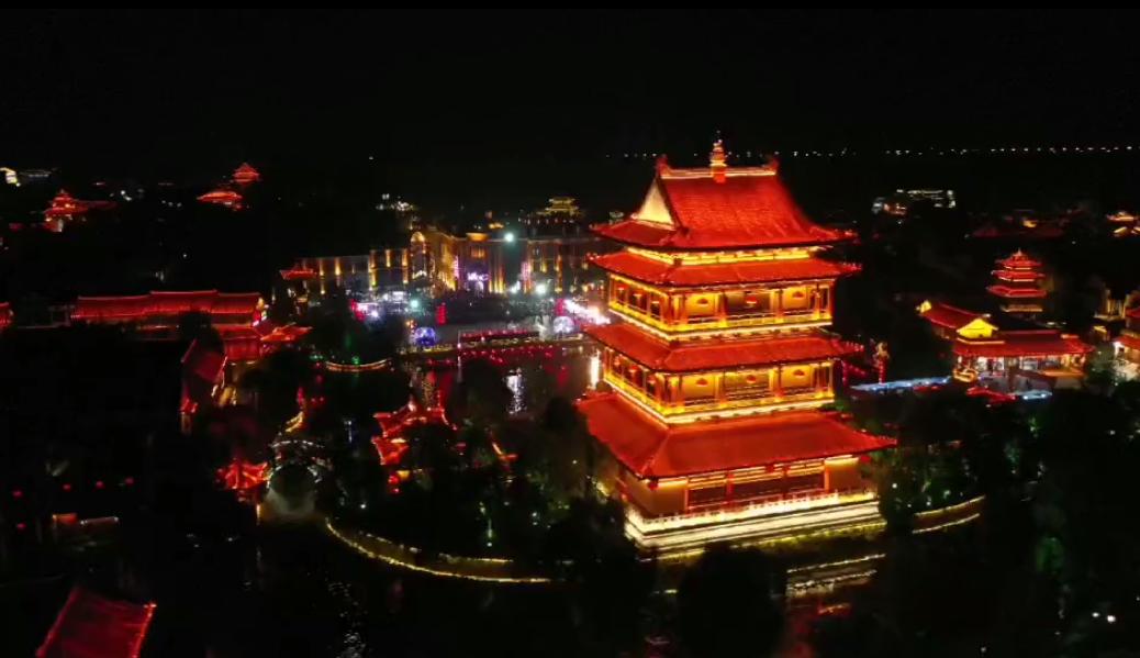 """【""""飛閱""""中國】俯瞰韻味古城夜"""