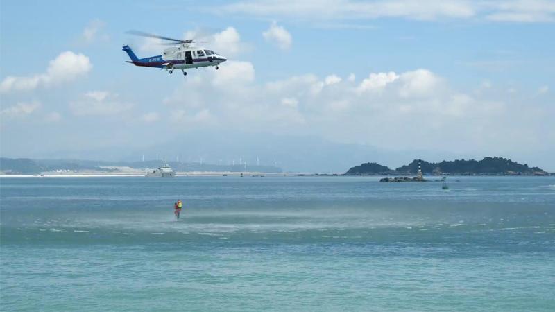 驚心動魄!多部門海陸空聯動演練海上救援
