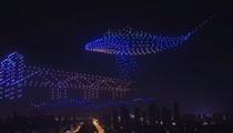 湖北武漢:1000架無人機點亮冬日夜空