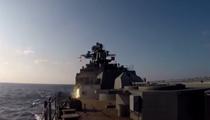 俄艦隊在日本海域實彈射擊演習