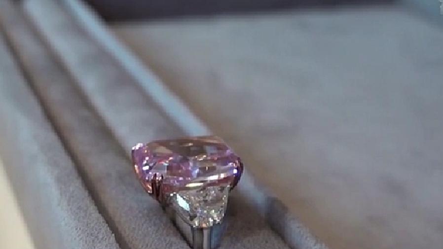 超1.8億元 史上最貴紫粉鑽石在香港成交