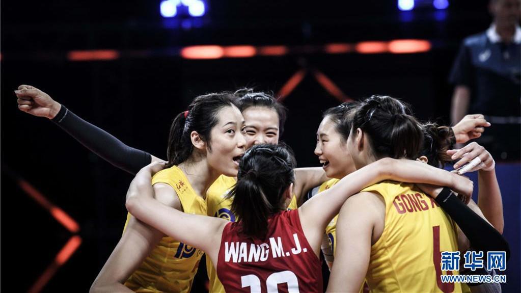世界女排聯賽:3比0戰勝美國隊 中國女排七連勝收官