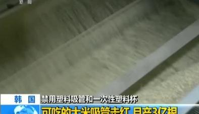 韓國:禁用塑料吸管和一次性塑料杯可吃的大米吸管走紅 月産3億根