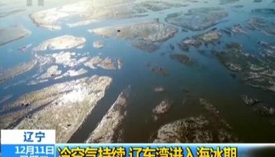 遼寧:冷空氣持續 遼東灣進入海冰期