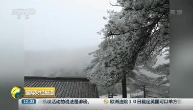 江西吉安:羊獅慕景區霧凇千姿百態