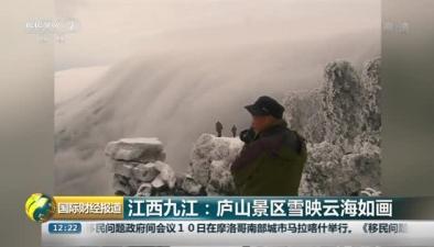 江西九江:廬山景區雪映雲海如畫