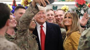 """特朗普""""突訪""""駐伊美軍 稱不會從伊撤軍"""