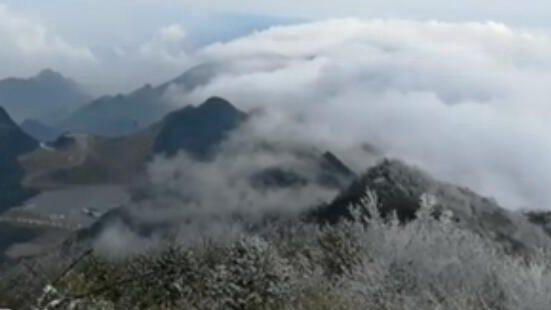 四川華鎣:雪景雲海宛如山水畫卷