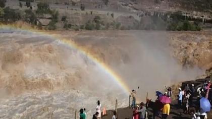 山西臨汾:壺口再現百米壯美瀑布群