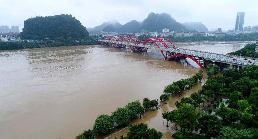 水利部:近四百條河流現超警洪水
