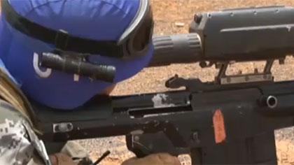 馬裏:我維和警衛分隊進行實彈射擊訓練
