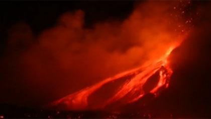 意大利埃特納火山再次噴發