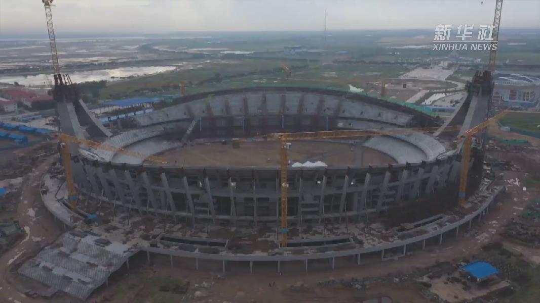震撼航拍!這是中國援柬國家體育場