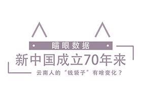 """新中國成立70年來 雲南人的""""錢袋子""""有啥變化?"""