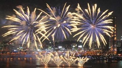 絢爛! 百萬人圍觀 首爾世界煙花節開幕