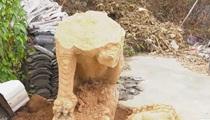 安徽黃山:500斤石獅不翼而飛 民警監控研判巧破案