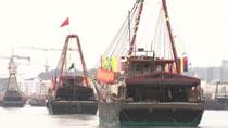 漁船海上大巡遊慶祝澳門回歸祖國20周年