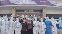 新聞特寫:武昌方艙醫院最後的告別