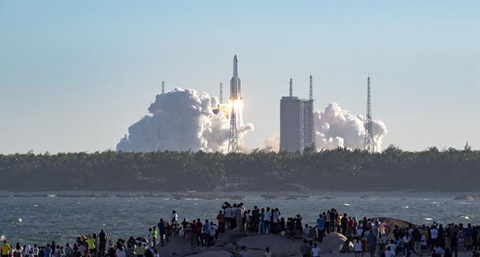 震撼!長徵五號B火箭首飛現場直擊