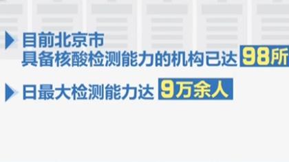 北京核酸檢測能力單日最大超9萬人