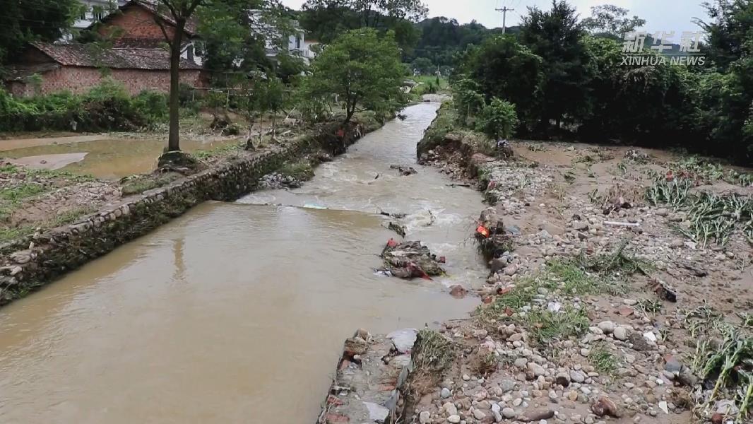 江西萍鄉:洪水退去 災後恢復工作有序進行