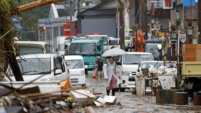 日本:九州等地洪災影響持續 至少65人死亡
