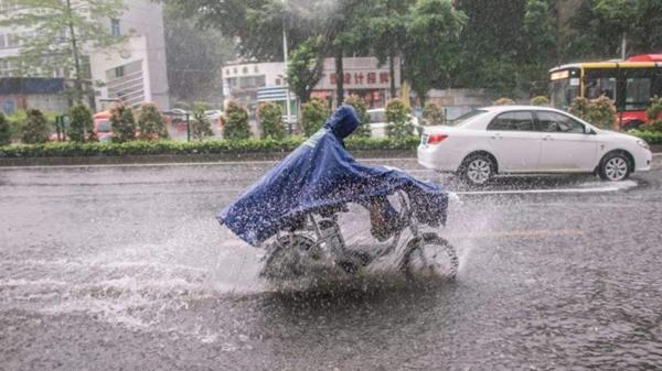 中央氣象臺今晨發布暴雨藍色預警