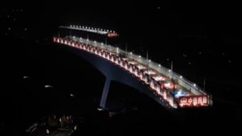 浙江寧波:國內最大曲線偏心轉體橋成功轉體