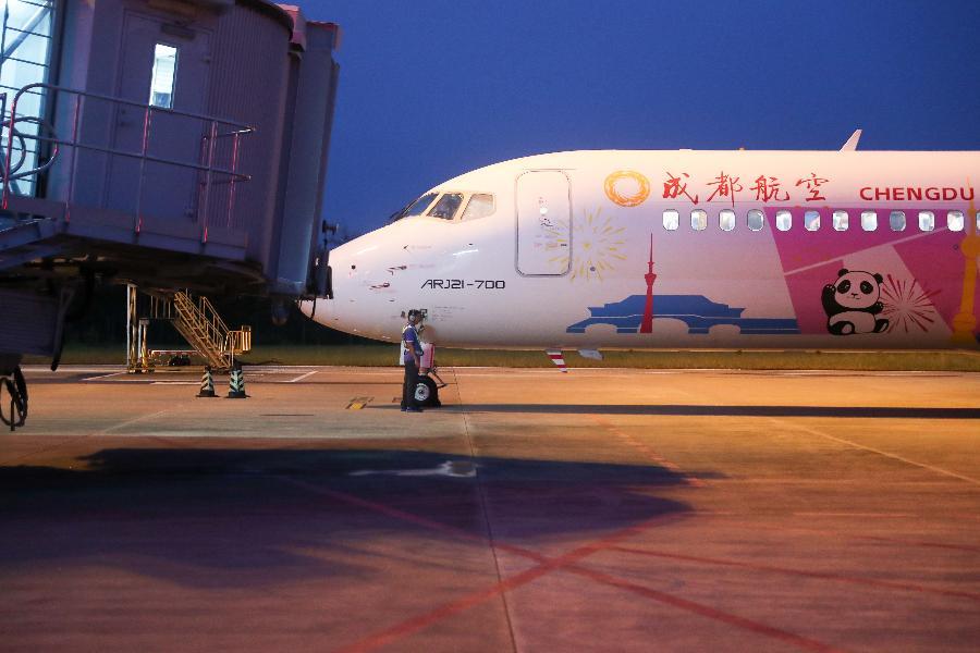 國産新支線客機ARJ21載客逾100萬人次
