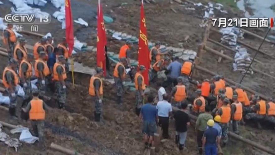 安徽馬鞍山:軍民合力處置滑坡險情