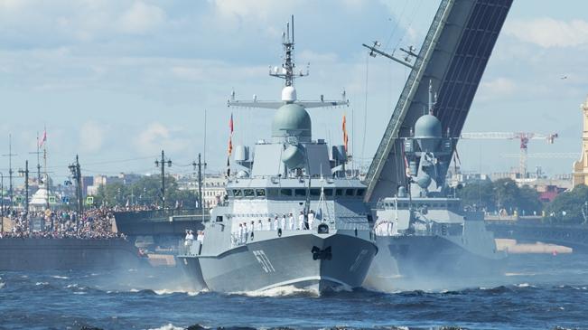 """俄羅斯海軍節:""""海上利器""""現身俄海軍節閱兵活動"""
