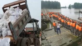 安徽潁上:戴家湖漏水涵閘成功封堵