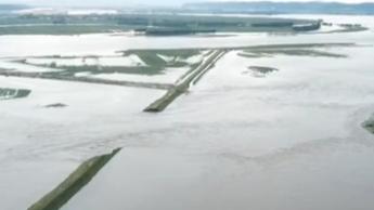 黑龍江:牡丹江依蘭段發生潰堤 受災群眾已轉移