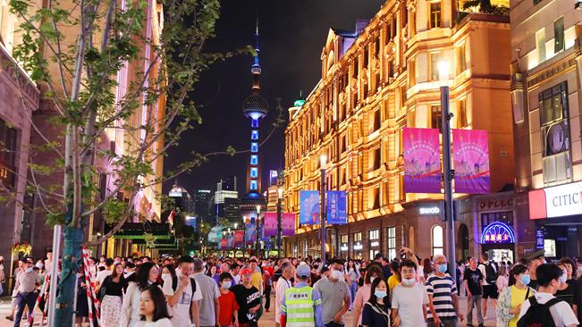 上海:南京路步行街東拓段開街