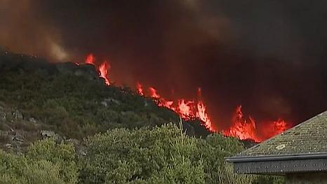 西班牙北部山火持續 濃煙滾滾
