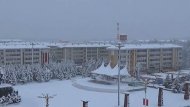 黑龍江大興安嶺地區迎來秋後首場降雪