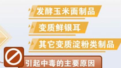 防止毒從口入 謹防米酵菌酸中毒