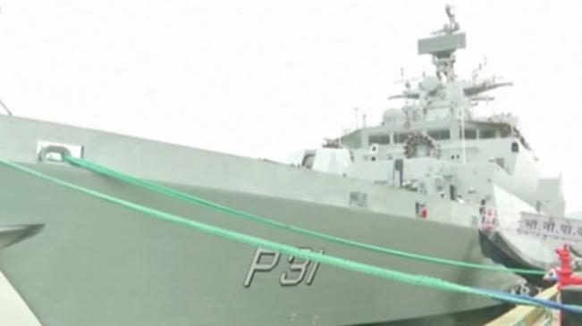 """印度海軍""""卡瓦拉蒂""""號反潛護衛艦正式服役"""